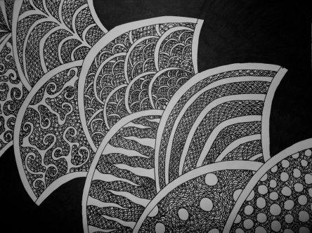 Fan ... Ink on Paper By Kelsey Cleland