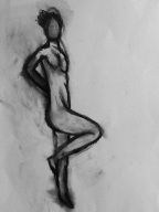 Nude Study #3 ... Charcoal on Paper By Kelsey Cleland